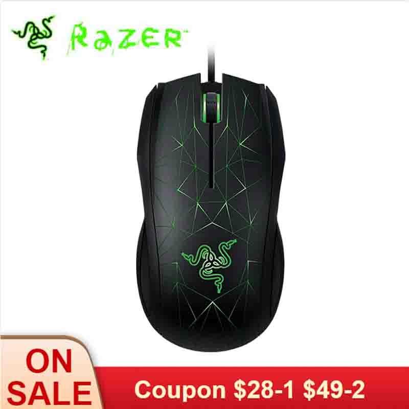 Razer Taipan 3500 DPI souris de jeu USB filaire ergonomique PC Gamer souris ambidextre 3 LED rétroéclairage noir