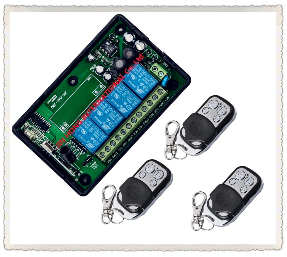 315/433MHZ AC220V 4ch RF Wireless remote control Learning code remote control switches 220V remote switch 3 remote with battery
