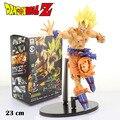 """Frete grátis 9 """" Dragon Ball Z Master estrelas pedaço MSP No. 18 Super Saiyan Goku Goku 24 cm encaixotado PVC Action Figure modelo boneca"""