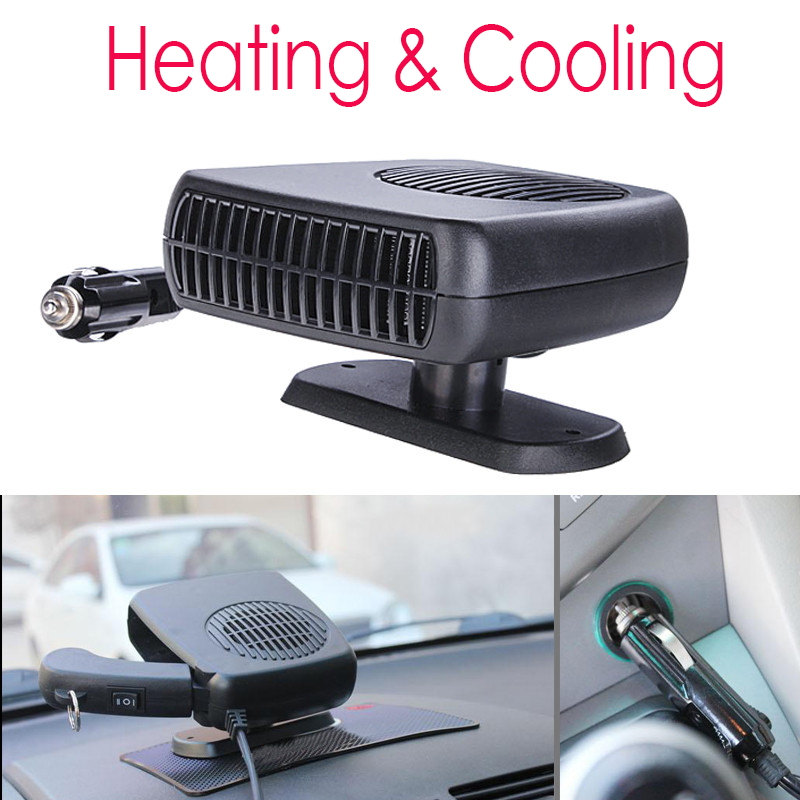 Auto Heater Fan 2 in 1 Car Heater Heating Cooling Fan Defroster Demister DC 12V 150W for Vehicle Portable Temperature Control  200w auto car portable heater fan dryer defrost black 12v