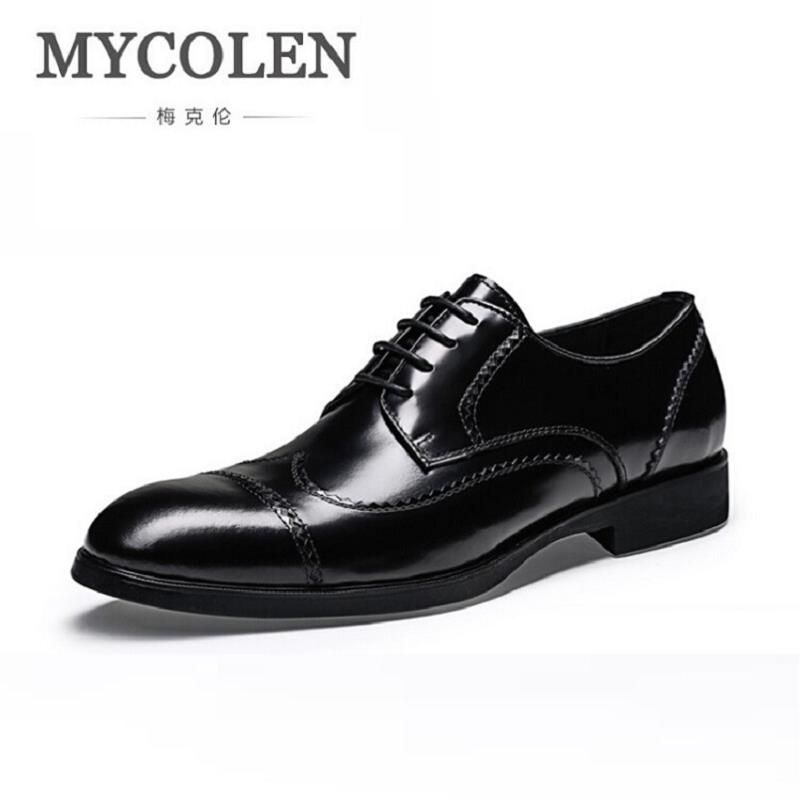 MYCOLEN 2018 New Fashion Mens Oxfords Vintage Dress Shoes Luxury Brand Comfort Office Man Shoes For Party Sepatu Pria mycolen 2018 new fashion mens oxfords vintage dress shoes luxury brand comfort office man shoes for party sepatu pria
