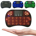 Mini Teclado Inalámbrico 3 color retroiluminada 2.4 GHz Inglés Ruso Touchpad de Control Remoto Para Android TV Box Tablet PC Inteligente TV