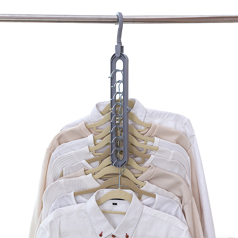 Multi-port Support Circle Clothes Hanger Clothes <font><b>Drying</b></font> Rack Multifunction Plastic Scarf Clothes Hangers Hangers Storage Racks