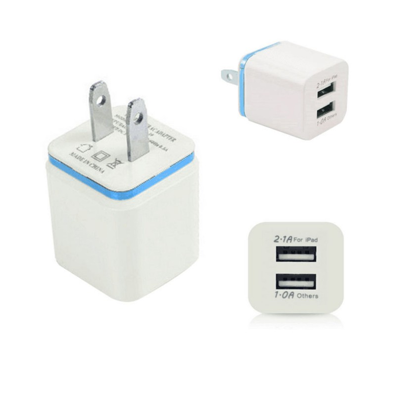 EDAL 2.1A 5V Dual USB Charger Mobile Phone Universal Portable Travel Wall Charger Adapter 5 Colors for iPhone Samsung Laptop
