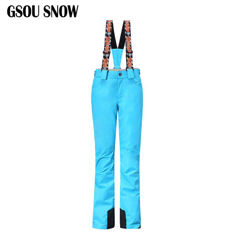 Women Winter Thick Cotton Ski Pant Unisex Snowboarding Rompers Women Men Ski Sports Pants 7 Colors Warm Climbing Hiking Jumpsuit alseye computer fan 3pieces 120mm fan cooler 1200rpm 3 pin water cooler fan radiator dc 12v silent fan for computer case