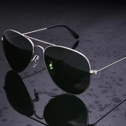 Gafas de sol polarizadas de calidad con marco de aleación de lente de cristal óptico americano del ejército de 2018
