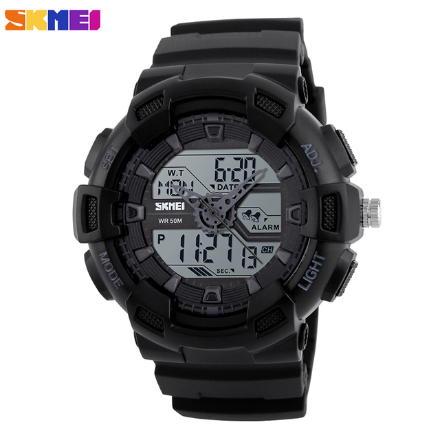 SKMEI 1189 Waterproof Military Army Men Sport Wristwatch mens Silicone Automatic Military Watch Datejust Army Top Quality Luxury