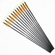 Flechas de fibra de vidrio para caza, novedad, 6/12/24 Uds., 32 pulgadas, gran oferta, tiro con arco, puntas cambiables