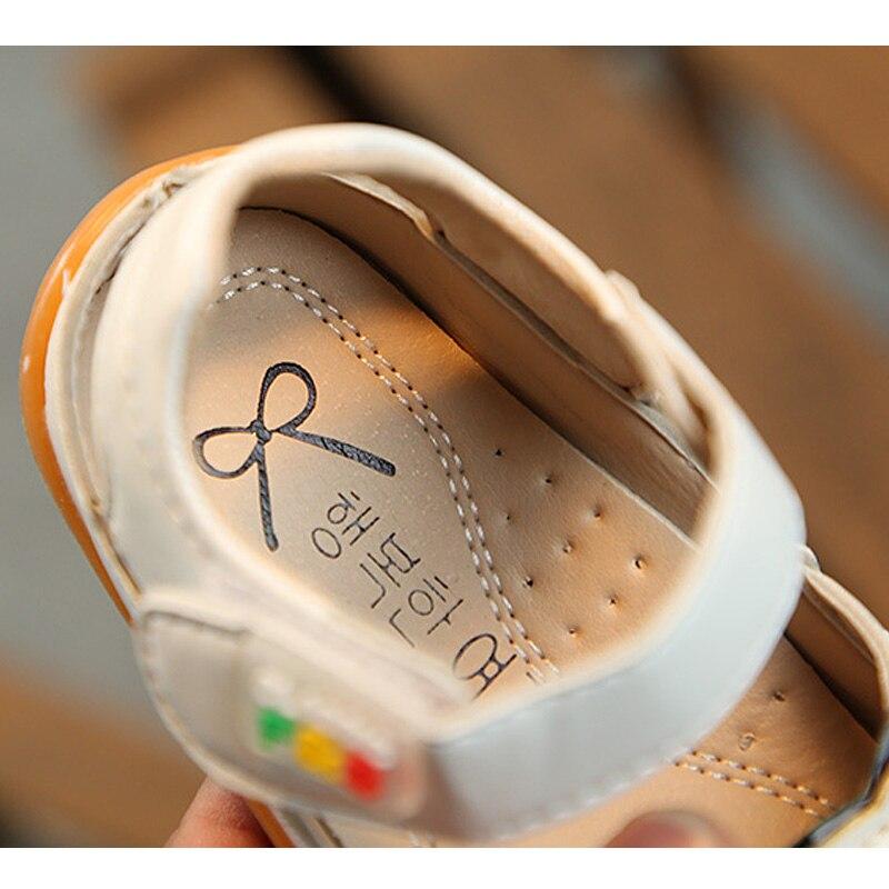 Letnie dziecięce sandały dla dziewczynki Śliczne kotki Skórzane - Obuwie dziecięce - Zdjęcie 6