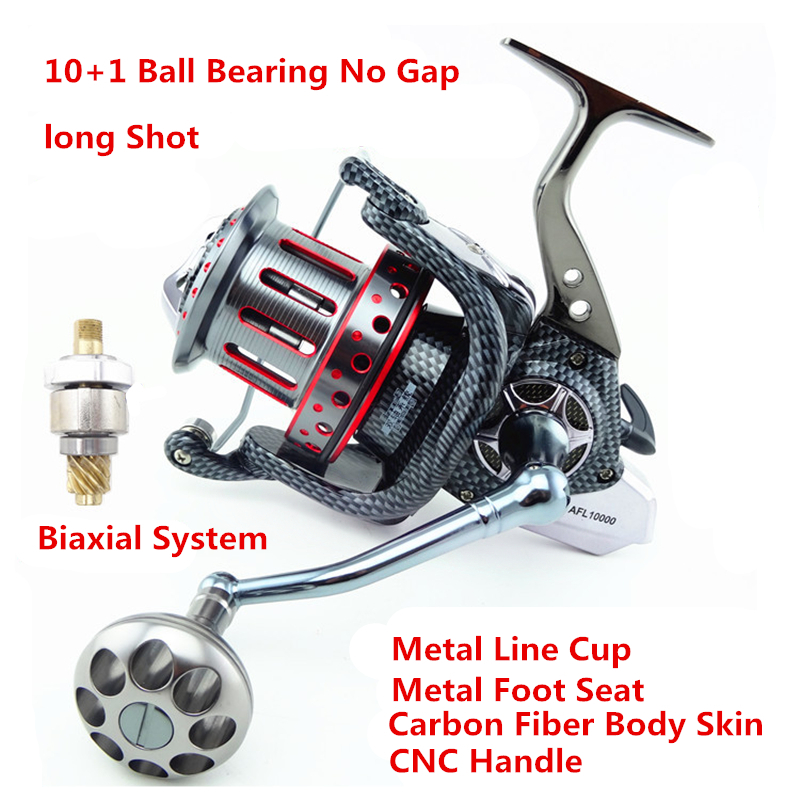 8000-12000S 10+1BB 4.7:1 Full Metal Spool Jigging Trolling Long Shot Casting Saltwater Surf Spinning Big Sea Python Fishing Reel haibo professional saltwater spinning fishing reel 5000 6000 7000 8000 9000 7bb 4 9 1 surf casting reel trolling jigging wheel