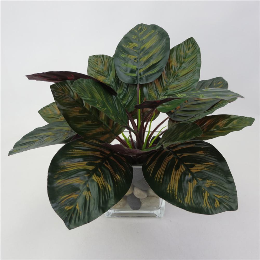1 Unid Planta Artificial Tropical Pavo Real Hojas Para Diy Arreglo Floral Decoración