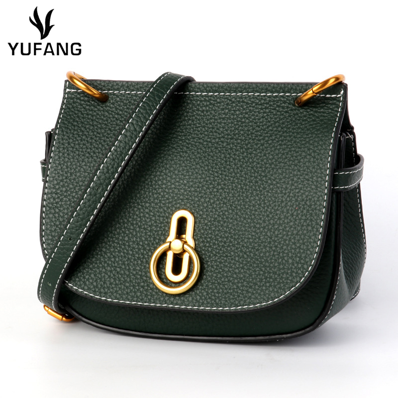 YUFANG Women s Handbag Genuine Leather Shoulder Bag Female Luxury Classic Style Messenger Bag Lady Daily