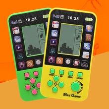 2 pcs Crianças Livres do Transporte Do Console Para O Brinquedo Das Crianças Retro Embutido 23 Jogos de Console Do Jogo Tetris Clássico Brinquedos Intelectual Do Console