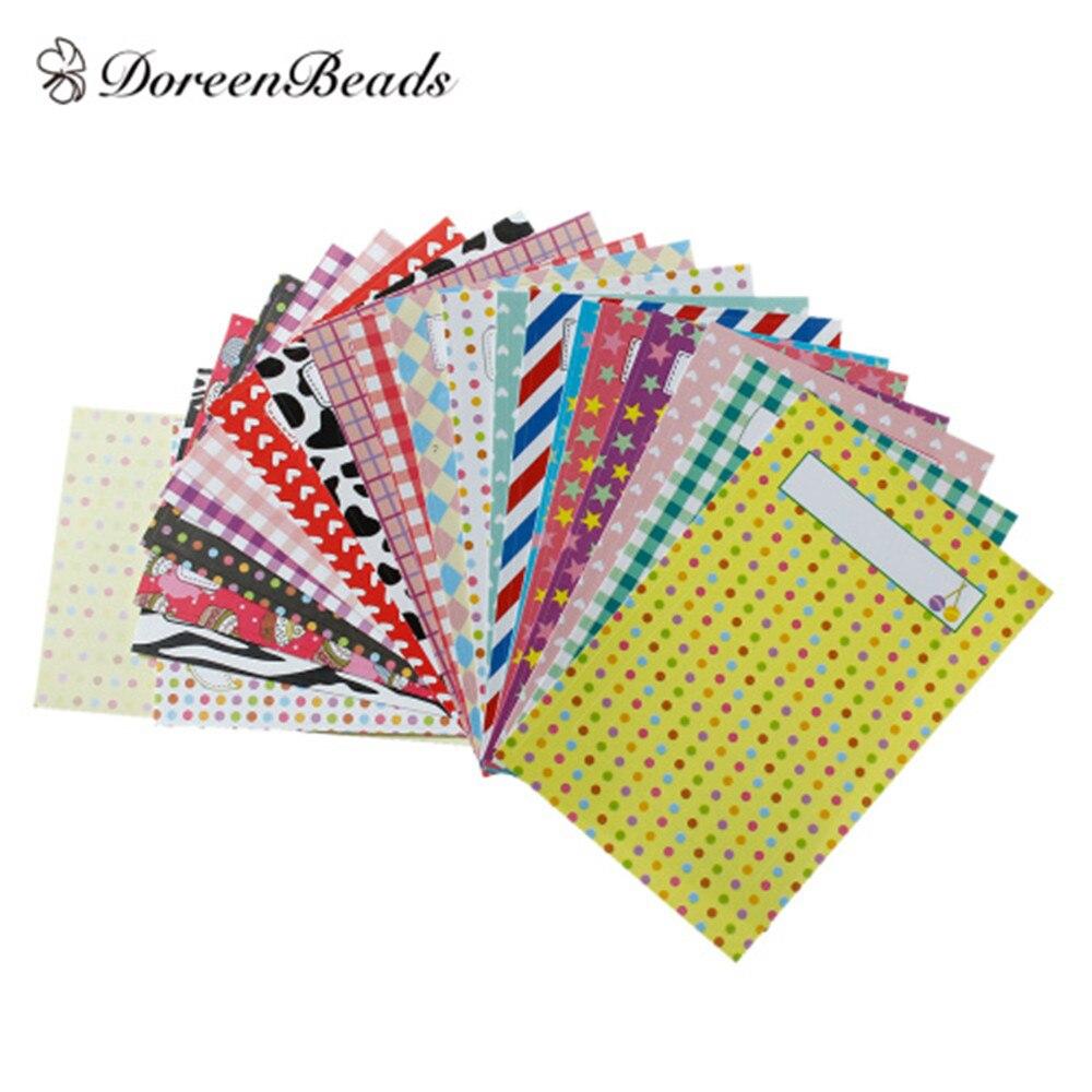 DoreenBeads Пасхальный бумага многоцветная Сделай Сам Polaroid Skin Deco маскирующие наклейки в случайном порядке смешанный узор скрапбук ремесло 9х6 см,...