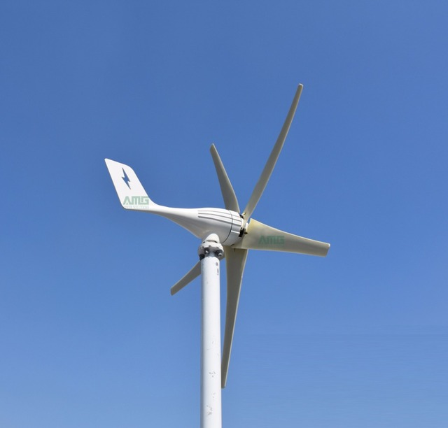 600W 12V/24V horizontal wind turbine power generator for home use with MPPT(boost) waterproof controller