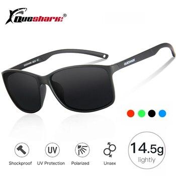 4e62255479 Queshark ligero polarizado gafas de sol hombres Camping pesca gafas UV400  protección pesca gafas deportes senderismo gafas