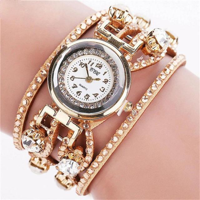 Women Exquisite Rhinestone Bracelet Watch Luxury Fashion Women Dress Watch Ladie