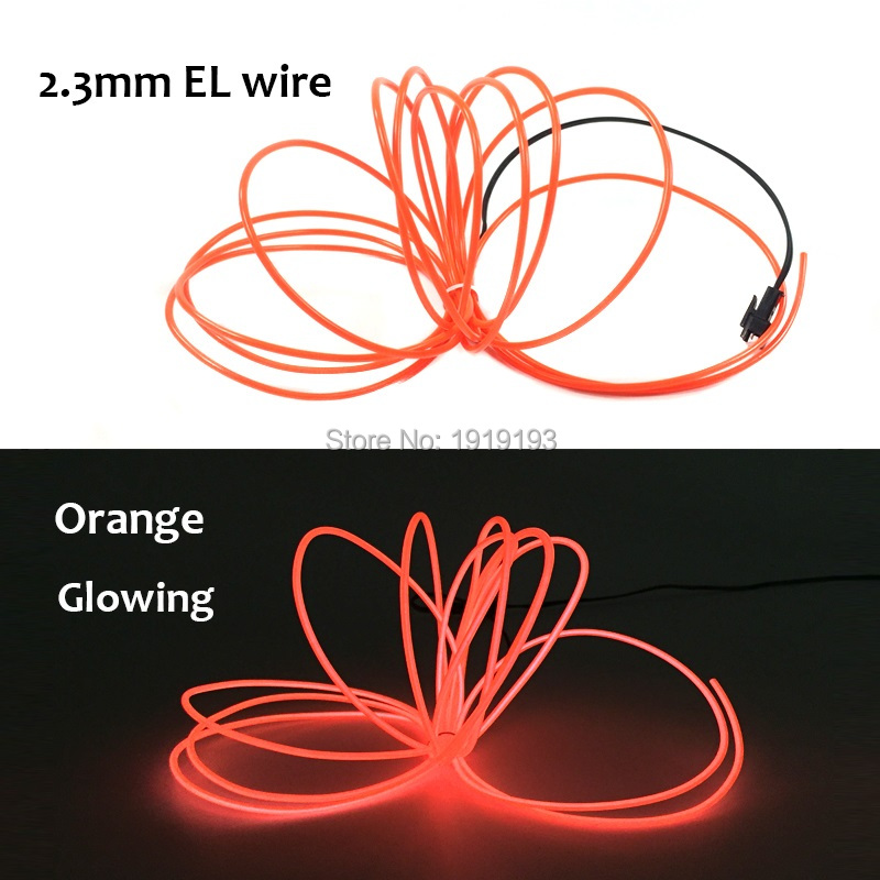 1PCS With House Festival Party decorations AC100-220V 2.3mm 10meters 10 color EL wire tube flexible glowing LED Strip Neon light