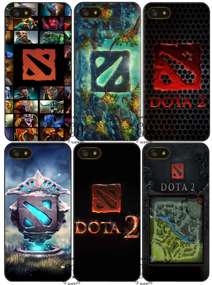 fashion dota 2 logo cover case for iphone x 4s 5 5s se 5c 6 6s 7 8