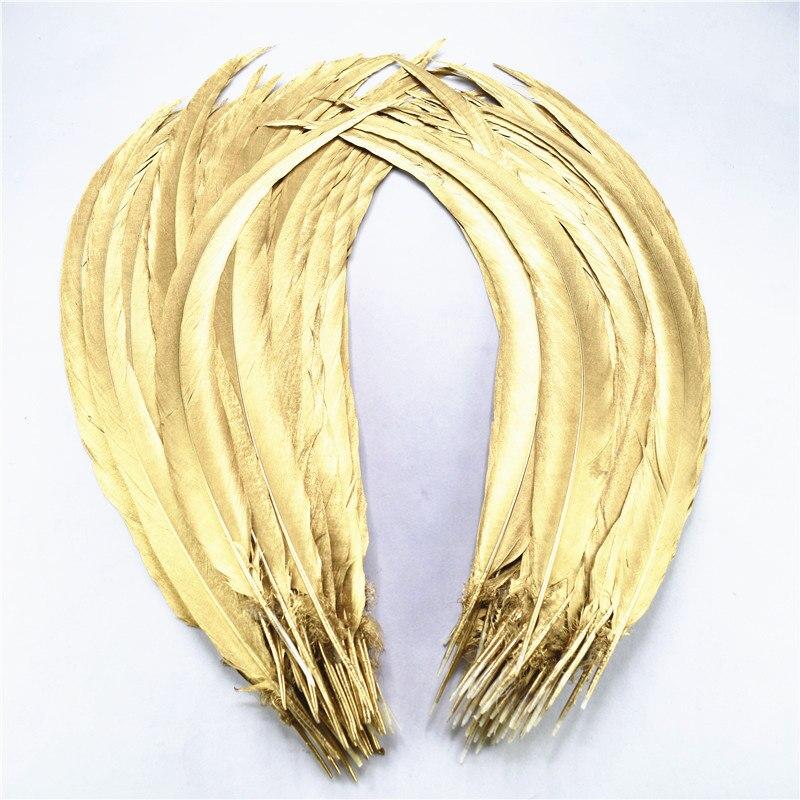 En gros 50 pcs-100 pièces 40-80 CM-16-32 Inch naturel plongé or argent faisan queue plumes élégant plumes décorations de mariage