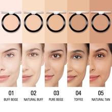 Sace senhora mate pressionado rosto pó fundação leve duradoura óleo-controle compacto cosméticos pó solto contorno maquiagem tslm1