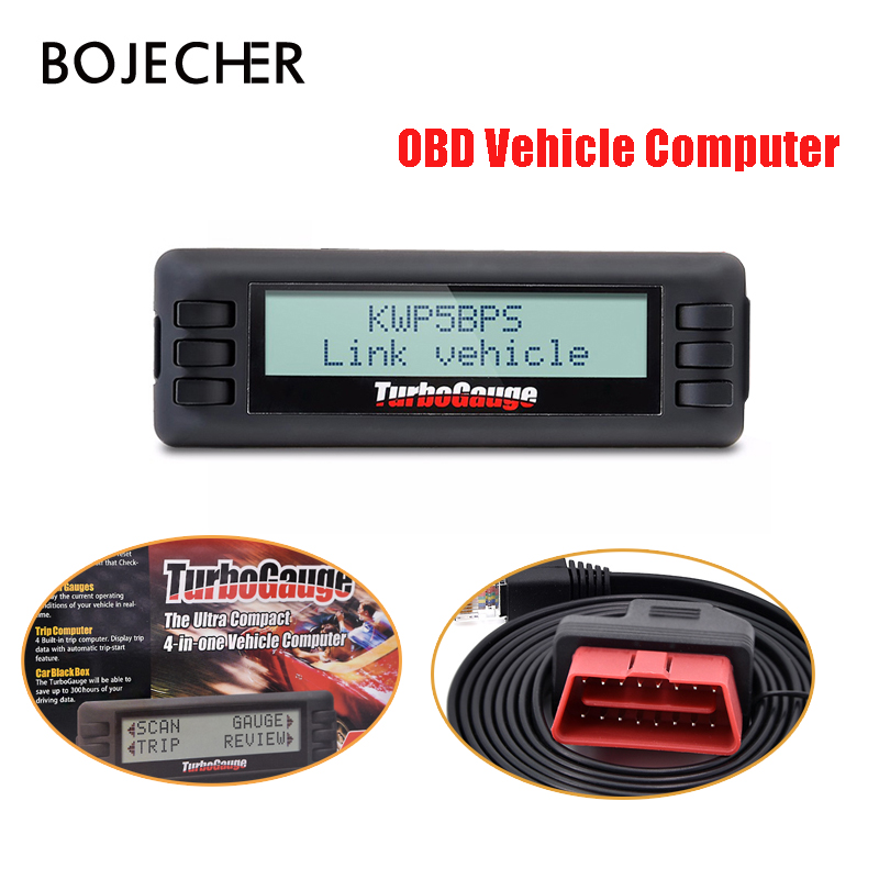 цена TurboGauge IV Auto car Trip Computer Scan Tool Digital Gauge 4 in 1 Vehicle Computer OBDII/EOBD Car Trip Computer