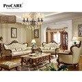 Роскошный европейский стиль уникальный кожаный диван гостиная диван набор современный кожаный диван Foshan ProCARE