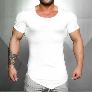 Rashgard Sport Shirt Men Running T Shirt Men Gym Shirt Training Clothing Cotton Breathable Workout Muscle T-Shirt Fitness Top