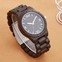 Fashion Natural Black Wood Watch Unisex Men Women Top Brand Luxury Waterproof Sandalwood Wristwatch Relogio Feminino Masculino
