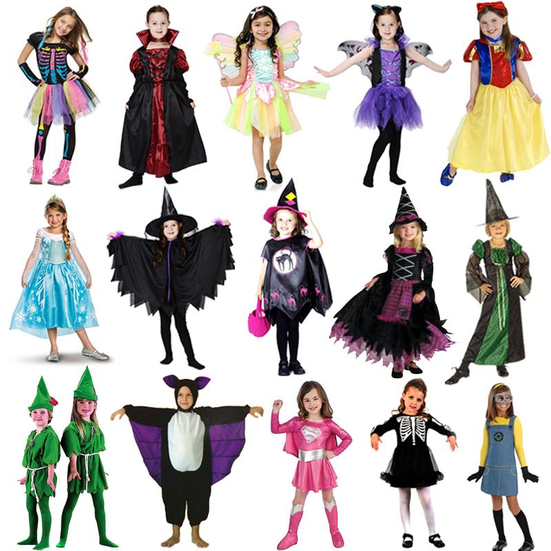 (D1-005)Witch and Fairy Halloween Clothes Cosplay For Kids