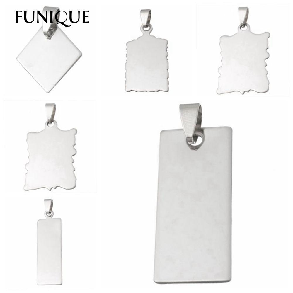 Funique Promotion Stainless Steel Silver Rectangle