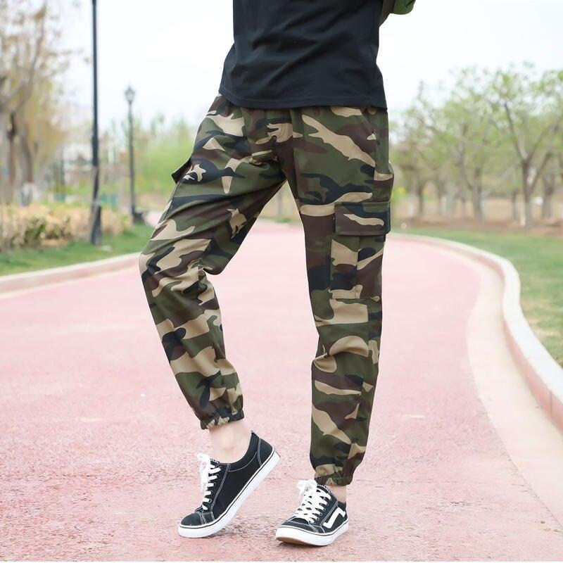 Summer Military Camo Pants Men Loose Cotton Army Trousers Casual Hip Hop Cargo Camouflage Pants Men Pantalon Camuflaje