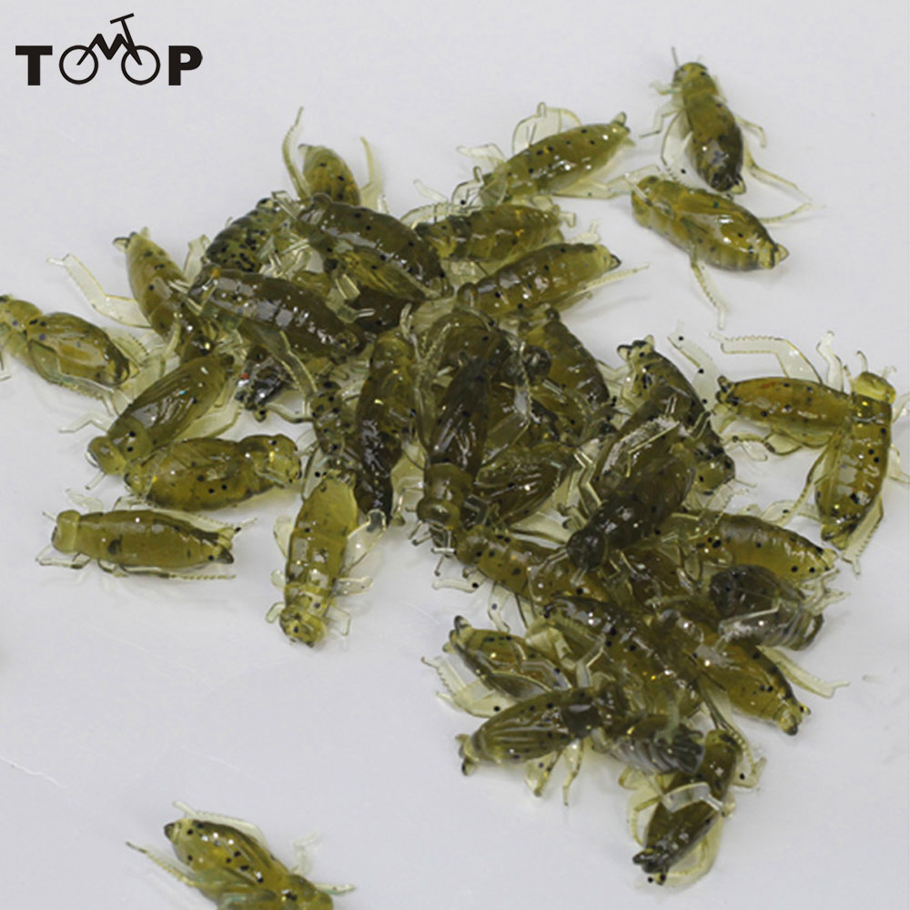 20Pcs 0.8g 2cm Soft Fishing Lures Pesca Lightweight Cricket Insect Lure Simulation Baits