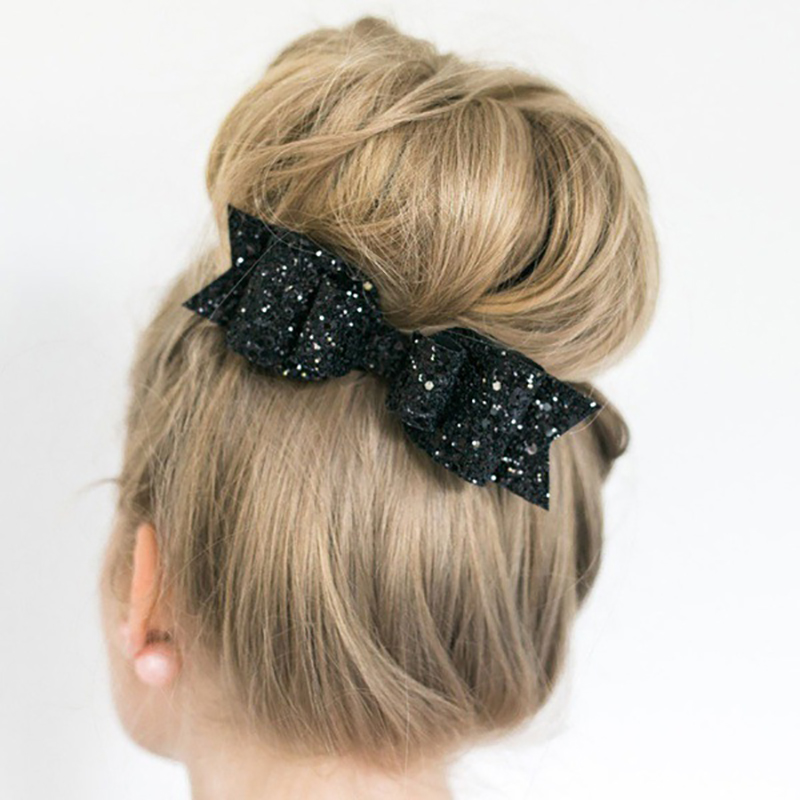 Fashion Women Girl Big Glitter Bowknot  Hair Clip Hair Bow Barrette  Kids Hairpins Hair Clip For Children Hair Accessories