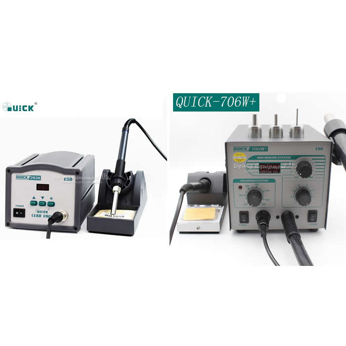 2 In 1 ESD Hot Air Gun Soldering Station Welding Solder Iron For IC 3pcs nozzles knokoo esd safe 75w soldering handpiece for di3000 intelligent soldering station solder iron