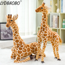 LYDBAOBO 1PC Super Giant Simulation Giraffe Plush Stuffed Toy Soft Deer Animal Home Accessories Cute Giraffe Doll Children Gifts