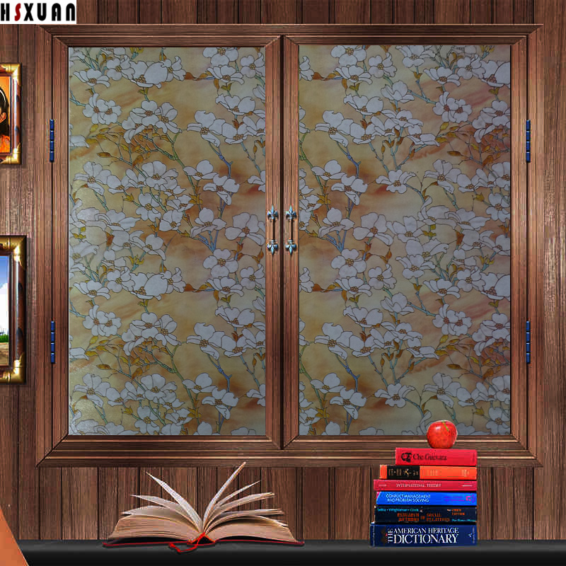 Frosted Door Decoratvie Stained Window Glass Stickers 40x100cm