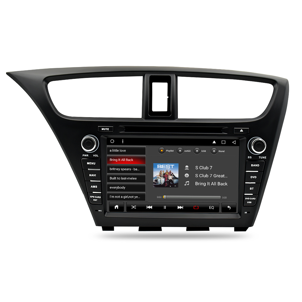 Image 5 - 8 Core Android 9.0 Car Stereo DVD For Honda Civic Hatchback 2013+ WIFI 2 Din RDS GPS Navigation Bluetooth Audio Video Multimedia-in Car Multimedia Player from Automobiles & Motorcycles
