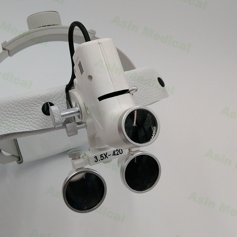 3.5x /2.5x 3 W LED Surgical Medical Dental Loupes With Spotlight Head Light  Lamp Headlight AC/DC With Loupes