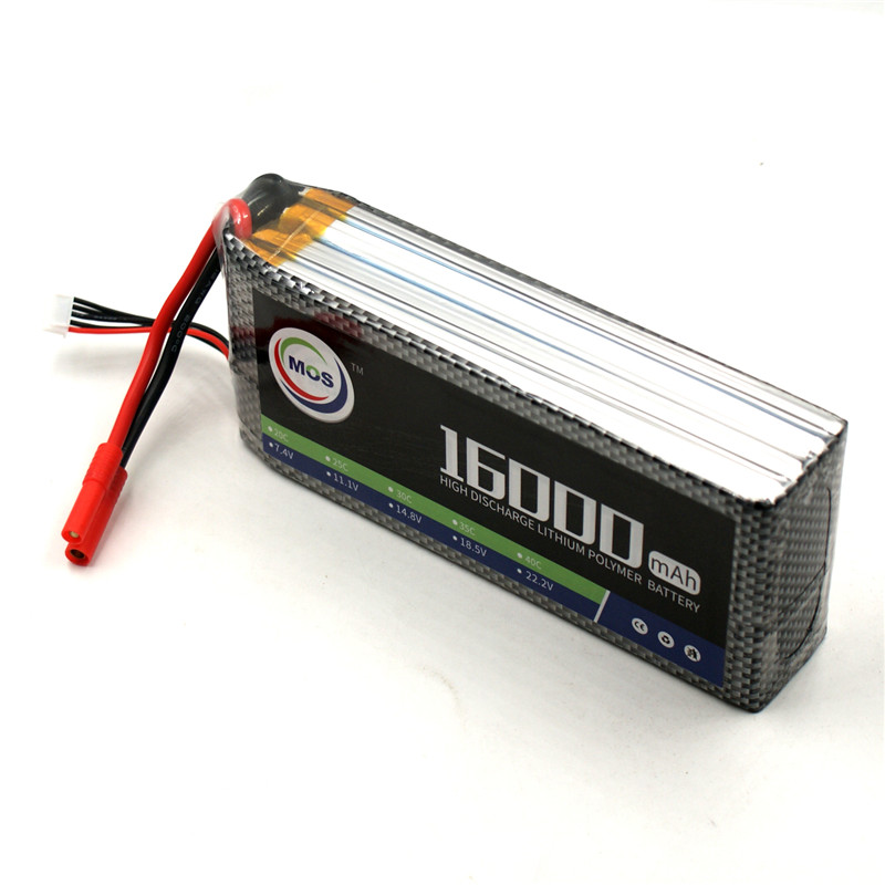 MOS 4S RC Lipo Battery 14.8v 25C 16000mAh For RC Aircraft Car Drones Boat Quadcopter Helicopter Airplane 4S Li-polymer Batteria f17534 5 6stat cnc round oil plug with fuel dot filling nozzle mouth 4 5mm for rc model boat aircraft helicopter car