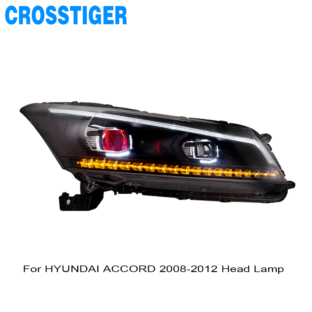FOR <font><b>HYUNDAI</b></font> ACCORD 2008 2009 2010 2011 2012 HEAD LAMP <font><b>LED</b></font> DRL <font><b>HEADLIGHT</b></font> ASSEMBLY LAMP image