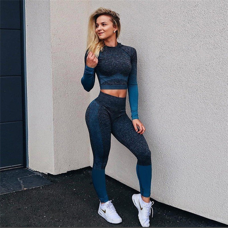 Sexy Solid Push Up Yoga Pants Women Elastic Breathable Patchwork Gym Legging Seamless Energy Tights Female Sports LeggingsSexy Solid Push Up Yoga Pants Women Elastic Breathable Patchwork Gym Legging Seamless Energy Tights Female Sports Leggings