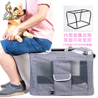 Soft Sided Pet Carrier With Steel Frame Dog House Style Portable Pet Crate For Cats Dogs