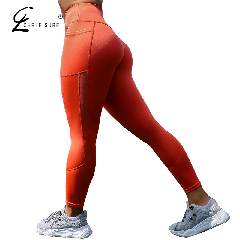 Women Mesh Pocket Fitness Leggings High Waist Legging Femme Mesh Patchwork Workout Leggings Feminina Jeggings 5