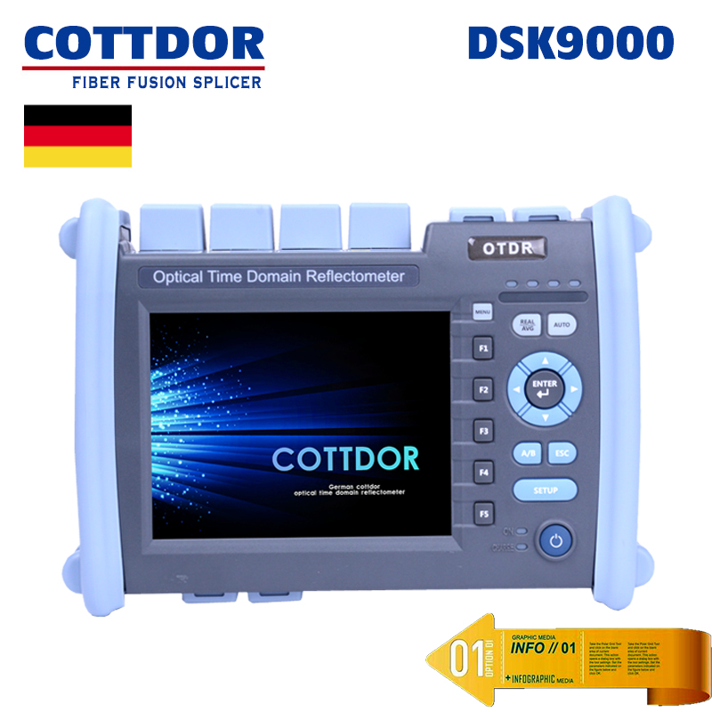2018 Latest KINGFIBER OTDR 35/33dB SM 1310/1550nm Optical Time Domain Reflectometer Fiber Optic Full touch screen OTDR