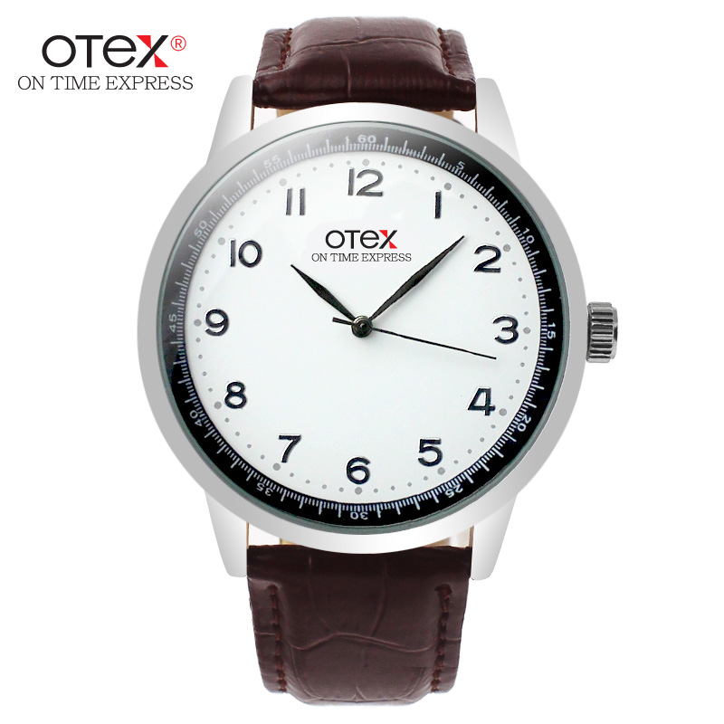 Luxury Brand OTEX Leather Watches Men Waterproof Fashion Casual Sports Quartz Watch Business Wrist Watch Hour Relogio Masculino silver watches men women luxury brand famous quartz wrist watches for men leather waterproof business fashion casual dress watch