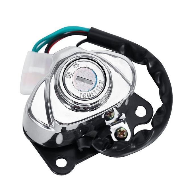 A Full Lock Key Set Motorcycle Ignition Switch Gas Fill Cap Steering Lock Helmet Lock Blank Keys For Honda