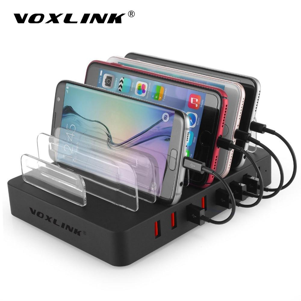 Voxlink usb charging station dock universal 8 port multi desktop usb charger with stand for - Multi chargeur usb ...