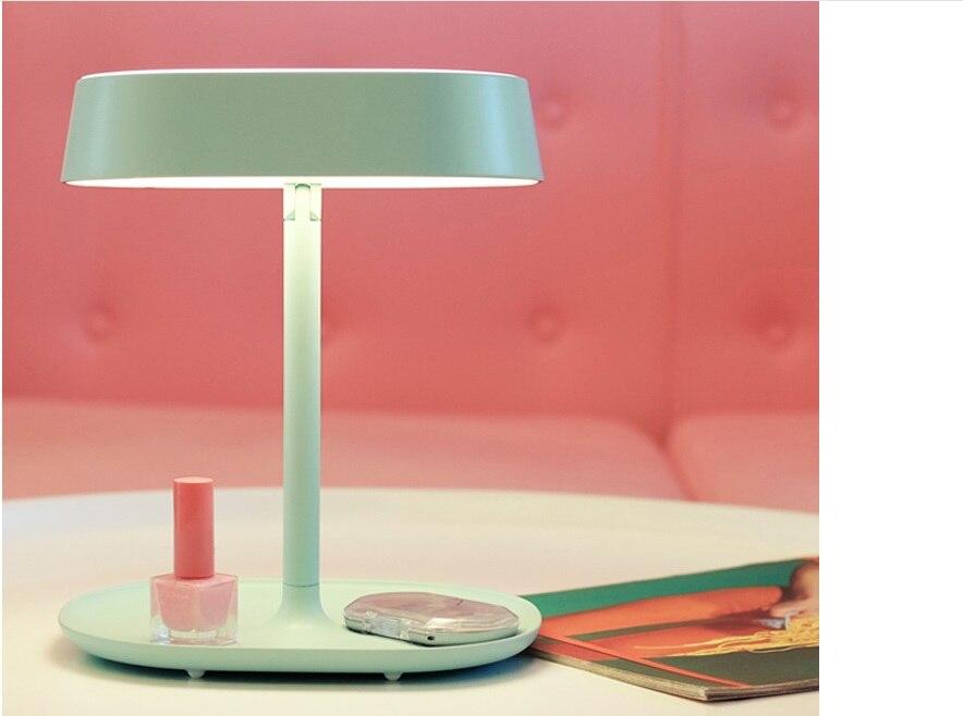ჱCargado vestido LED espejo lámpara de mesa lámpara de la cama de ...