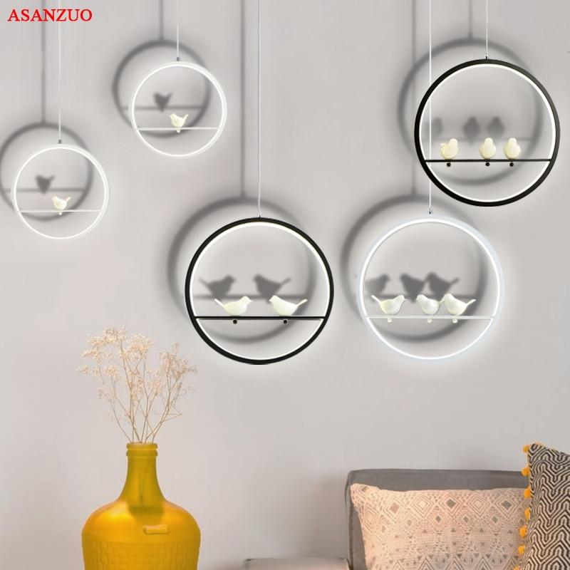 Modern Creative LED Pendant Lights Bar Dining Room Suspension Luminaire Vintage Loft Bird Pendant Hanging Lamp
